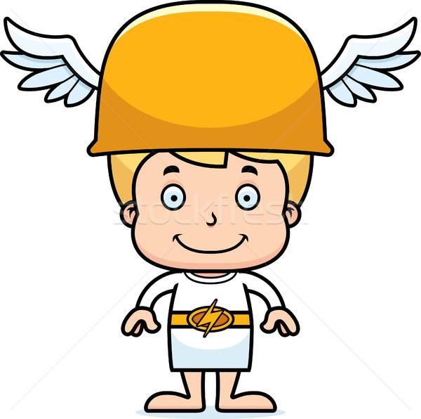 Cartoon Smiling Hermes Boy Stock photo © cthoman
