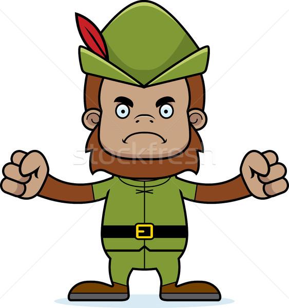 Cartoon Angry Robin Hood Sasquatch Stock photo © cthoman