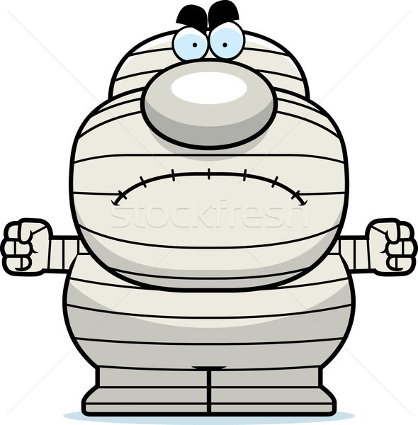 Angry Cartoon Mummy Stock photo © cthoman