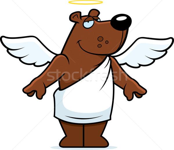 Engel beer gelukkig cartoon halo Stockfoto © cthoman