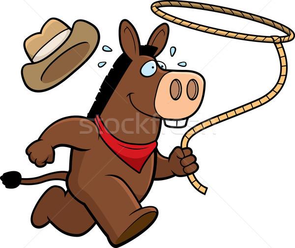 Burro rodeio feliz desenho animado corrida Foto stock © cthoman
