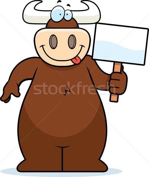 Bull Sign Stock photo © cthoman