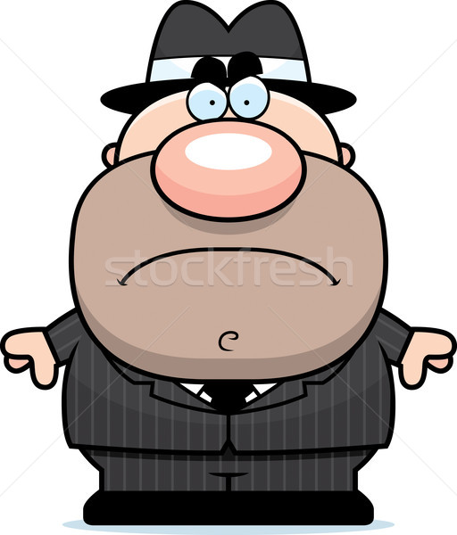 Mad Cartoon Mobster Stock photo © cthoman