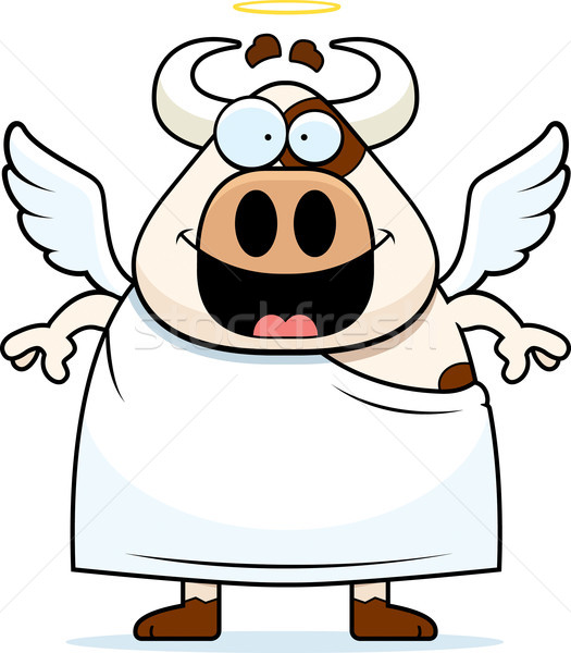 Cartoon Holy Cow Stock photo © cthoman