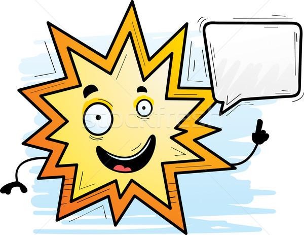 Cartoon esplosione parlando illustrazione energia grafica Foto d'archivio © cthoman