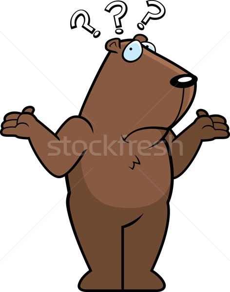 Confused Groundhog Stock photo © cthoman