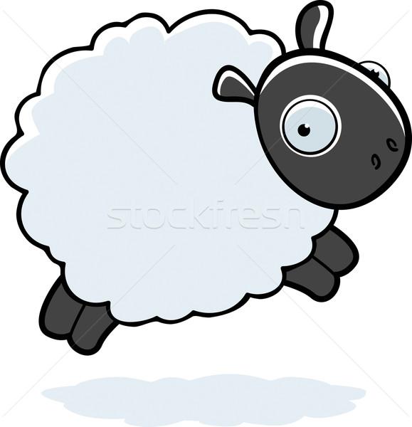 羊 ジャンプ 漫画 ふわっとした 空気 ストックフォト © cthoman