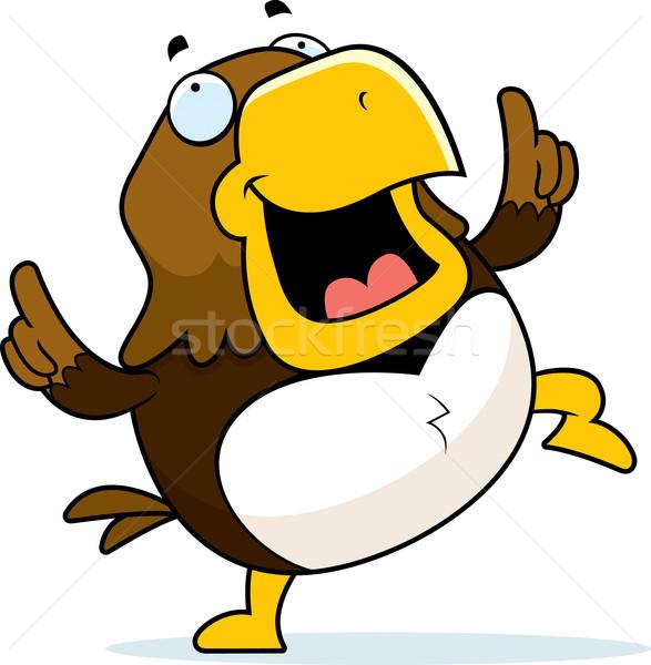 Cartoon halcón baile feliz sonriendo Foto stock © cthoman