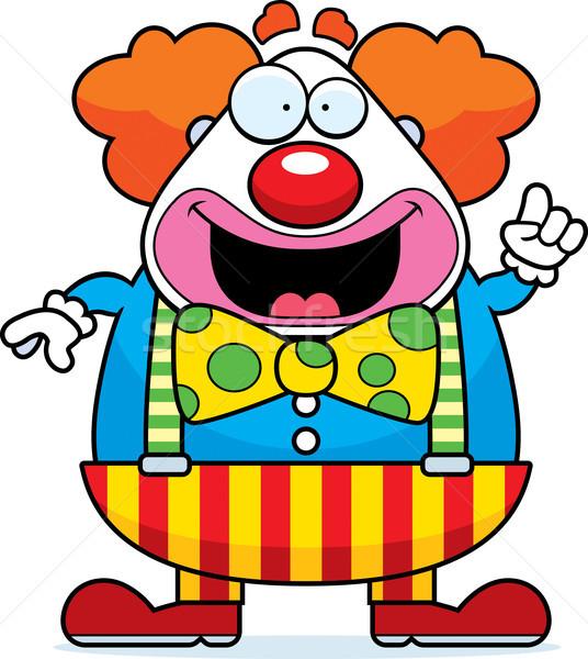 Cartoon clown idee gelukkig partij grafische Stockfoto © cthoman