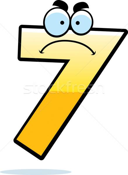 Boos cartoon zeven illustratie naar aantal Stockfoto © cthoman