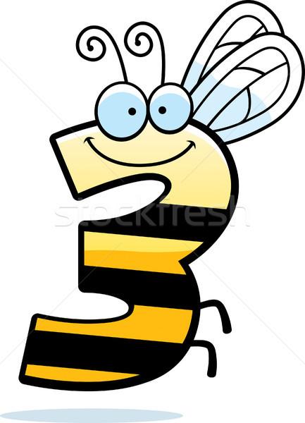 Rajz szám három rovar illusztráció rovar Stock fotó © cthoman