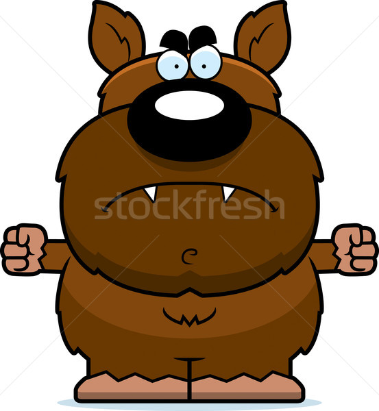 Angry Cartoon Werewolf Stock photo © cthoman