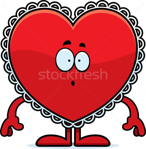Verwonderd cartoon Valentijn illustratie naar hart Stockfoto © cthoman
