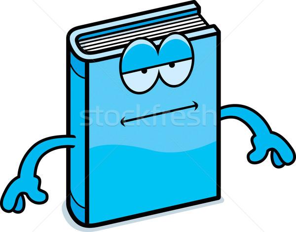 Cartoon libro aburrido ilustración mirando Foto stock © cthoman