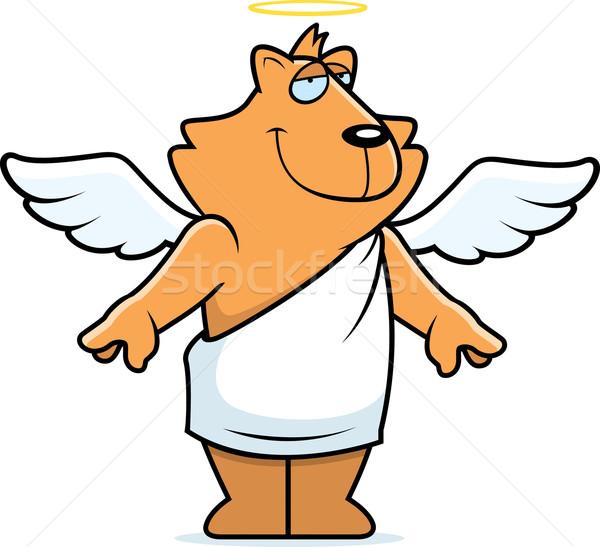 Engel kat cartoon halo Stockfoto © cthoman