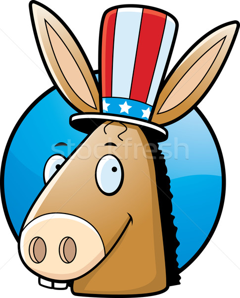 Demócrata burro Cartoon icono democrático sonriendo Foto stock © cthoman