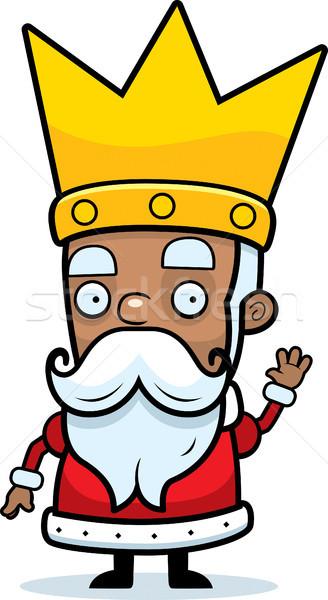 Karikatür kral örnek taç Stok fotoğraf © cthoman