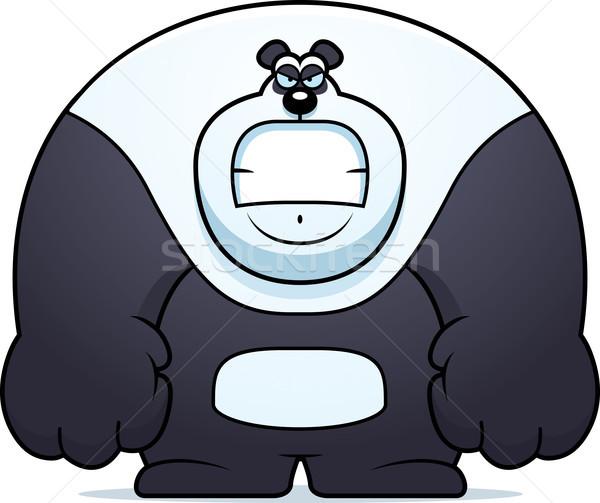 Enojado Cartoon panda ilustración tener mirando Foto stock © cthoman