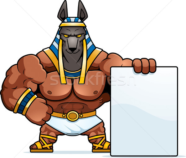 Cartoon Anubis Sign Stock photo © cthoman