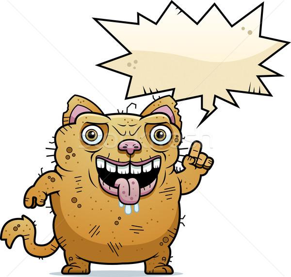 Laide chat parler cartoon illustration animaux Photo stock © cthoman