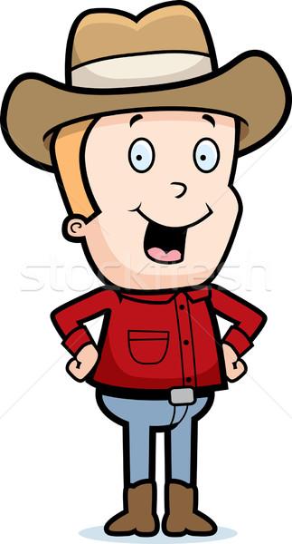 Cowboy Smiling Stock photo © cthoman