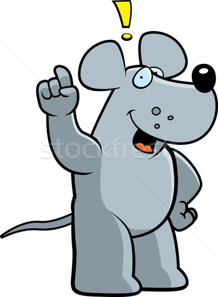 Sıçan fikir mutlu karikatür Stok fotoğraf © cthoman