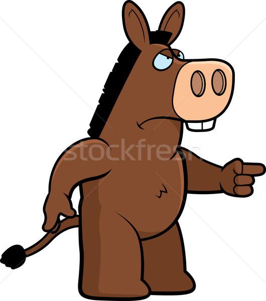Boos ezel cartoon ass Stockfoto © cthoman