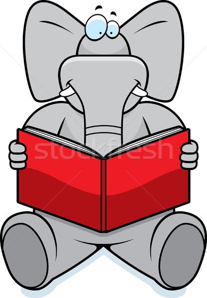 Elephant Reading Stock photo © cthoman