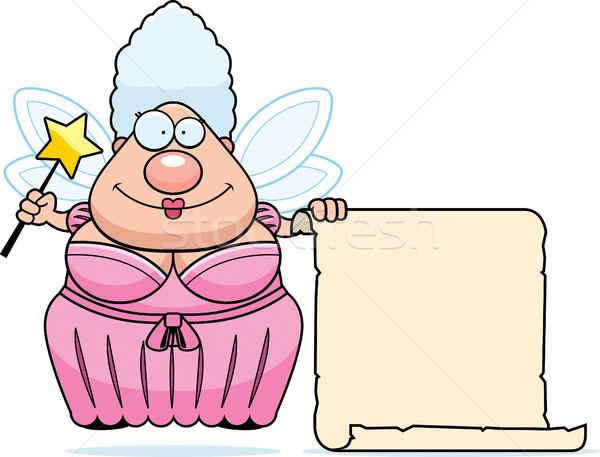 Fata elenco felice cartoon ali abito Foto d'archivio © cthoman
