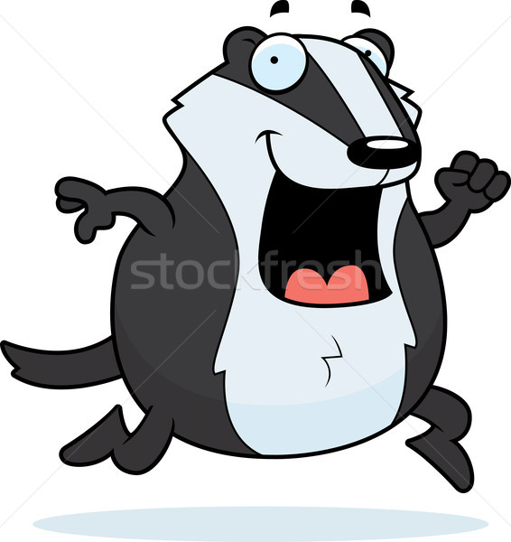 Cartoon Badger Running Stock photo © cthoman