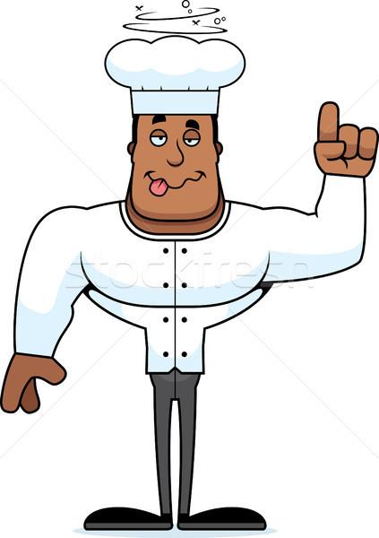 Cartoon borracho chef mirando Foto stock © cthoman