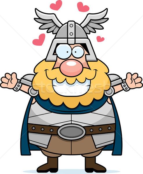 Cartoon Thor Hug Stock photo © cthoman