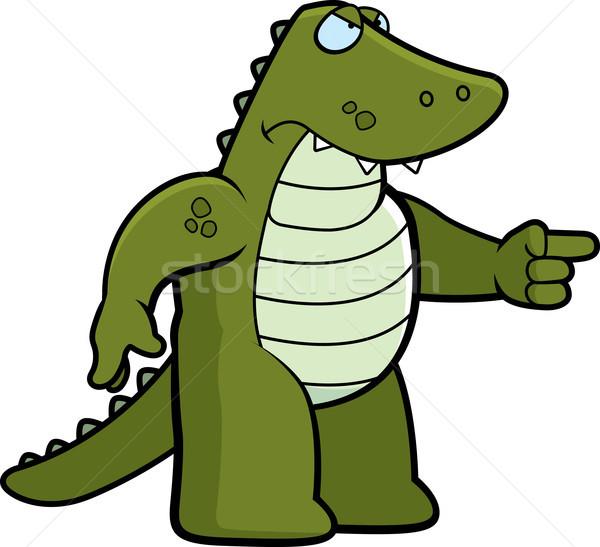 Angry Alligator Stock photo © cthoman