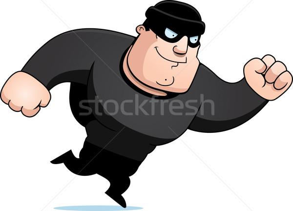 Cartoon scassinatore esecuzione uomo persona ladro Foto d'archivio © cthoman