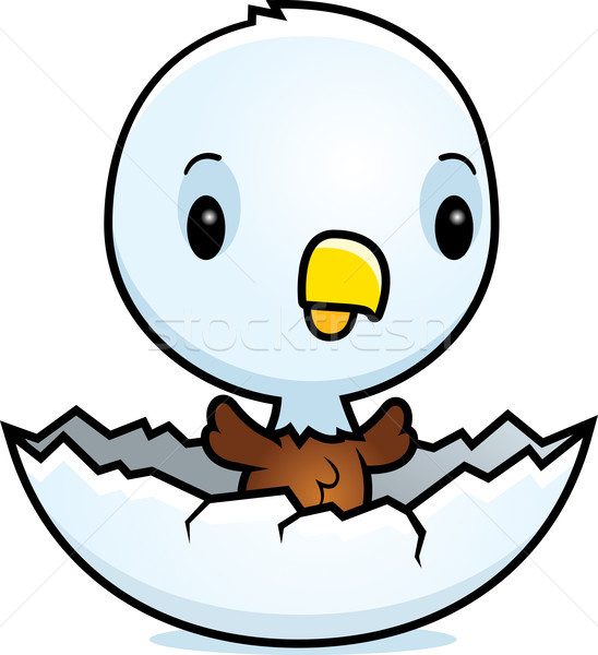 Cartoon Baby Eagle Hatching Stock photo © cthoman