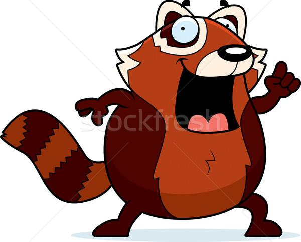 Cartoon Rood panda idee illustratie Stockfoto © cthoman