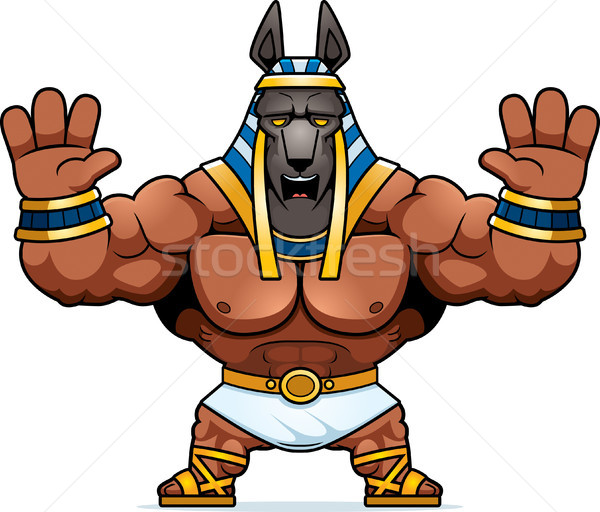 Cartoon Anubis Scared Stock photo © cthoman