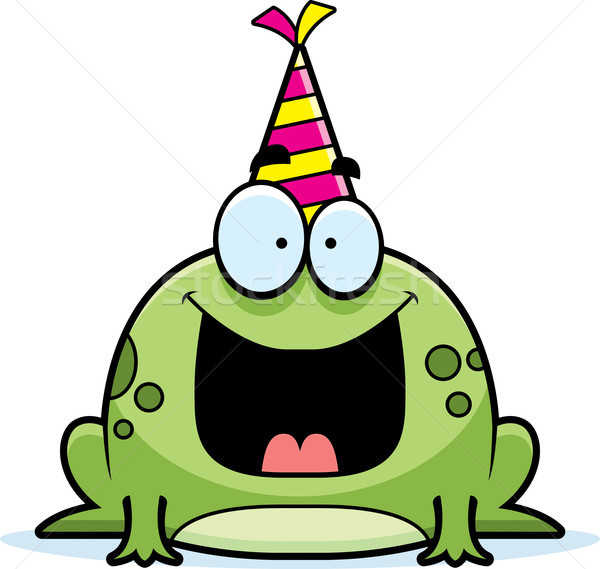 Cartoon Frog Birthday Party Stock photo © cthoman