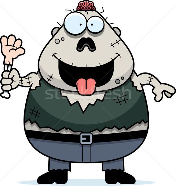 голодный Cartoon зомби иллюстрация глядя человека Сток-фото © cthoman