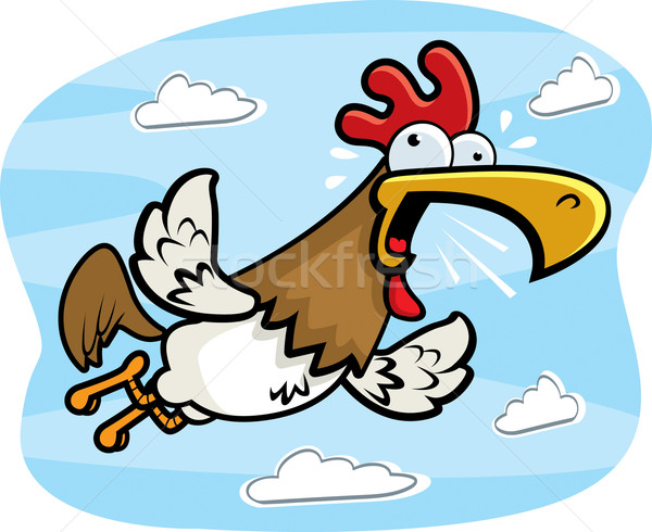 Rooster Flying Stock photo © cthoman