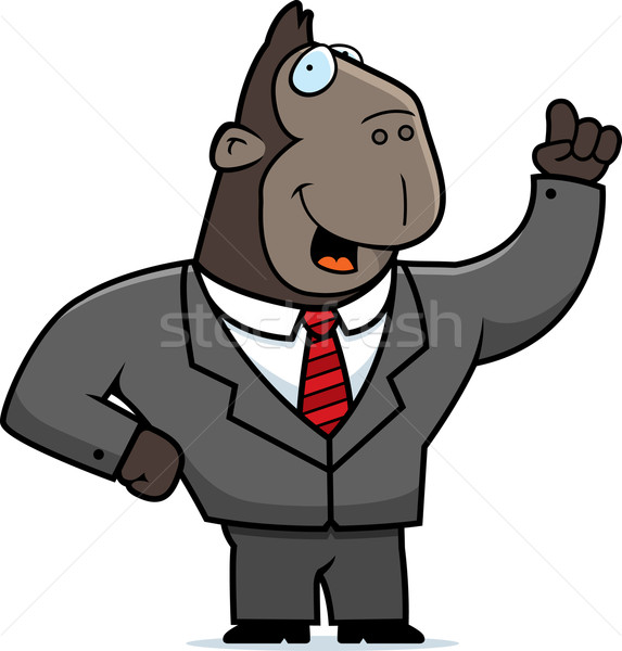 Ape Businessman Stock photo © cthoman