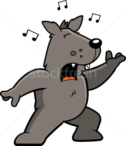 Wolf Singing Stock photo © cthoman