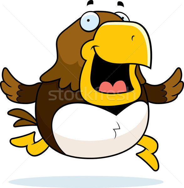 Cartoon Hawk Running Stock photo © cthoman