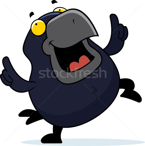 Cartoon Crow Dancing Stock photo © cthoman