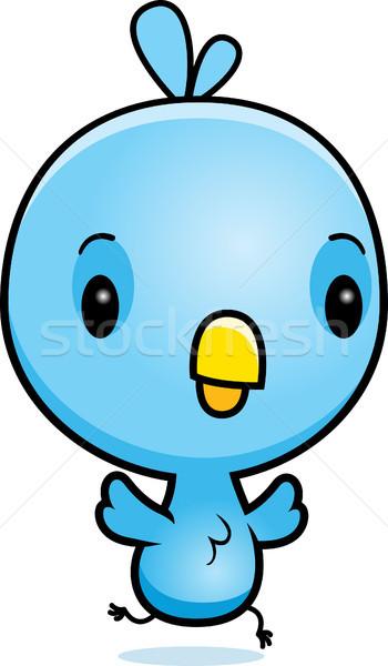 Cartoon Blue Bird Running Stock photo © cthoman