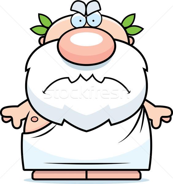 Cartoon Angry Greek Stock photo © cthoman