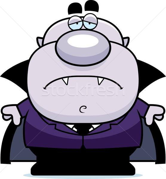 устал Cartoon вампир иллюстрация глядя мужчин Сток-фото © cthoman