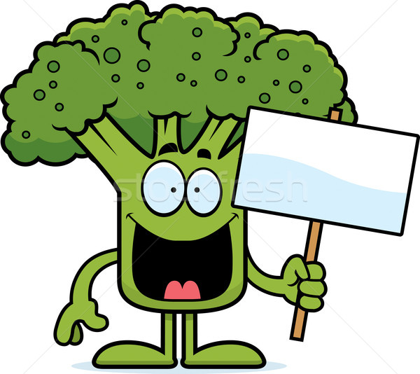 Desenho animado brócolis assinar ilustração peça Foto stock © cthoman