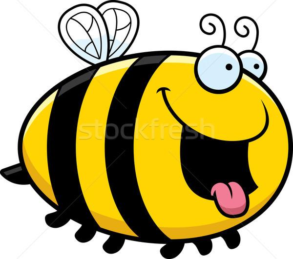 Flamand desen animat albină ilustrare uita fericit Imagine de stoc © cthoman