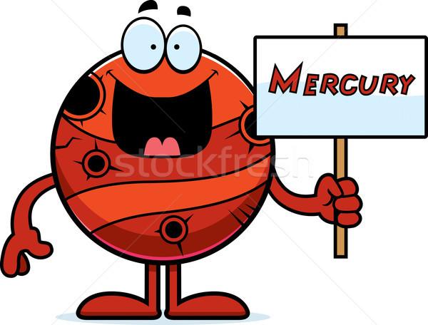 Cartoon Mercury Sign Stock photo © cthoman